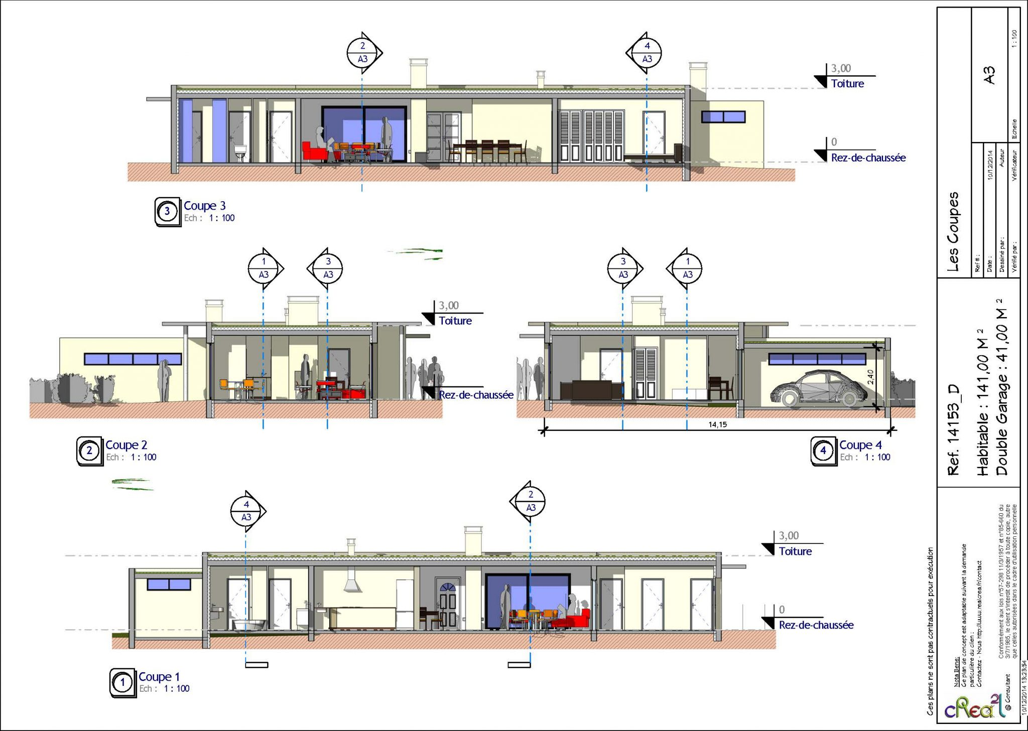 plan maison contemporaine toit plat pdf