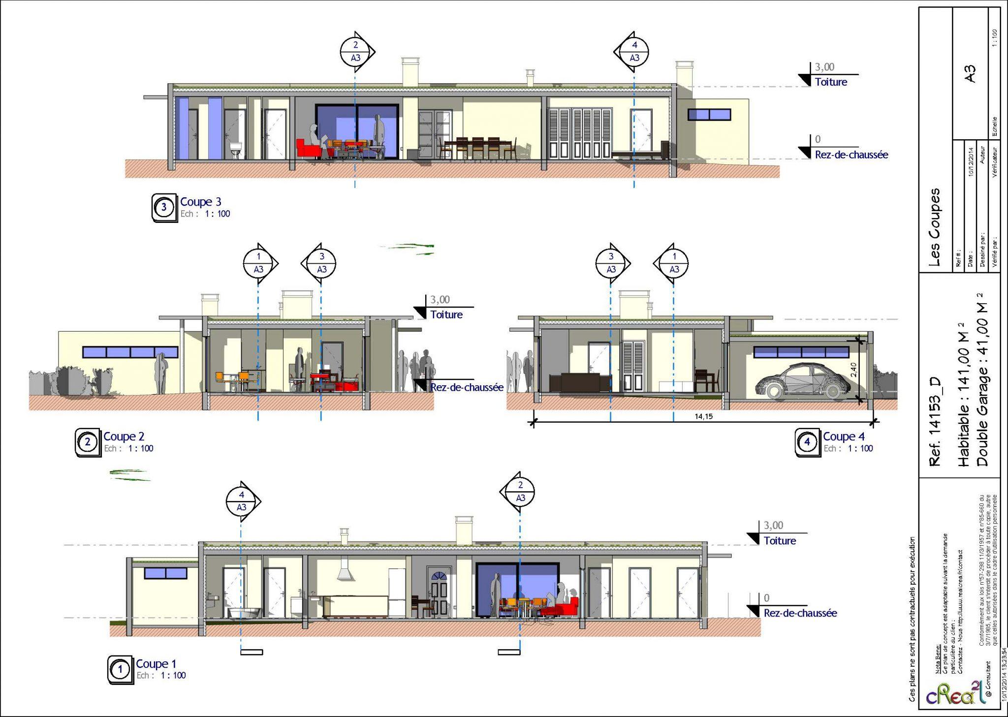 Plan Maison Contemporaine Plain Pied Toit Plat - Ventana Blog
