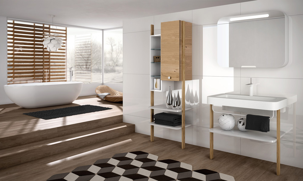 Meuble salle de bain style scandinave - Le monde de Léa