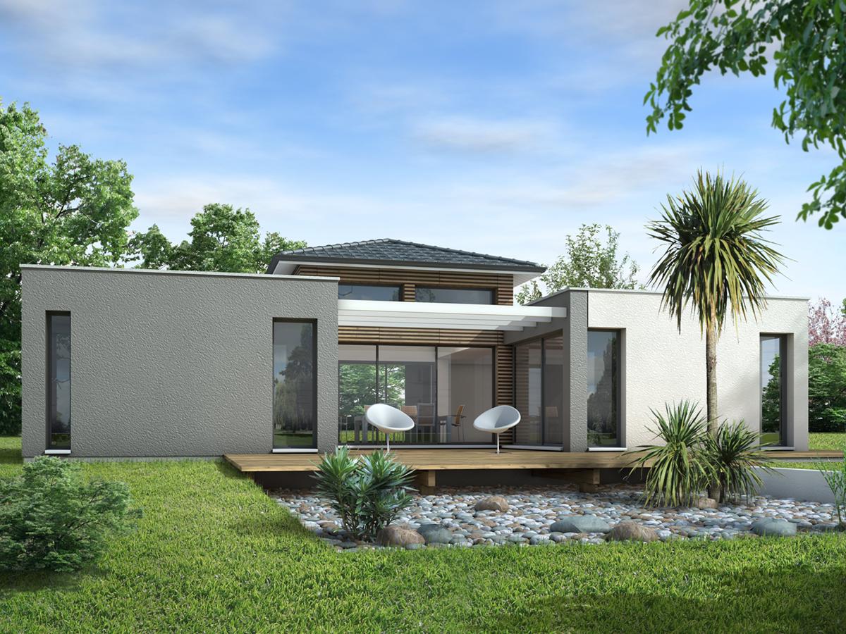 Charmant Plan Maison Cubique Plain Pied