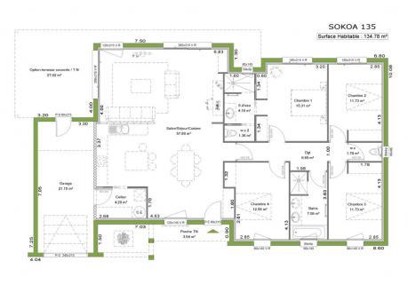 Plan maison contemporaine toit plat le monde de l a for Plan maison contemporaine toit plat