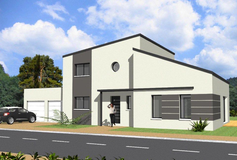 Maison moderne 140m2 le monde de l a for Achat construction neuve