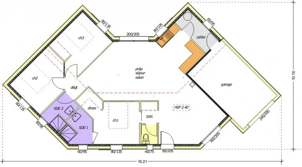 Plan de maison d architecte contemporaine le monde de l a for Plan maison architecte contemporaine