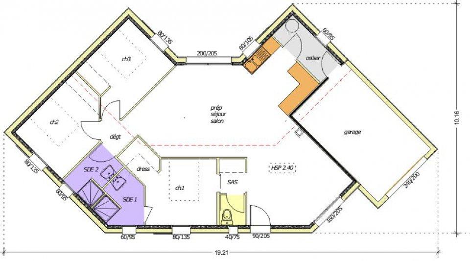 Plan maison architecte design le monde de l a for Achat maison neuve 13