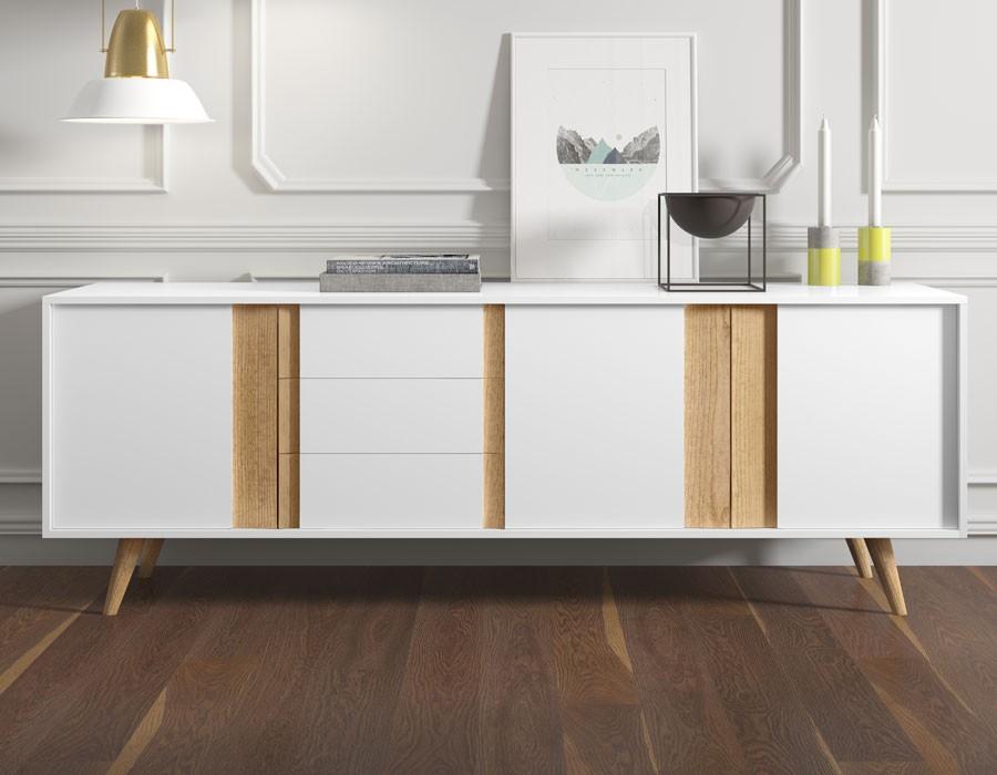 bahut style scandinave le monde de l a. Black Bedroom Furniture Sets. Home Design Ideas
