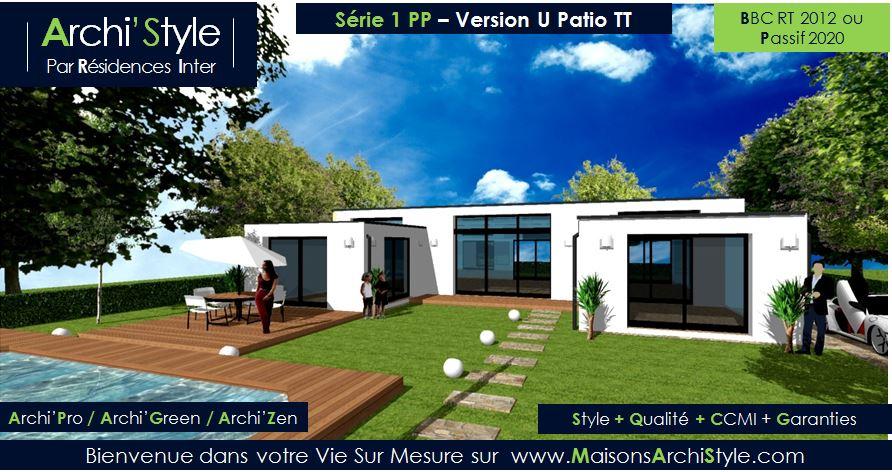 Souvent Plan maison plain pied moderne toit plat - Le monde de Léa CL09