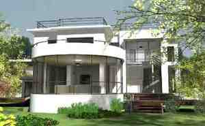 Villa basse moderne avec plan le monde de l a for Modele villa basse moderne