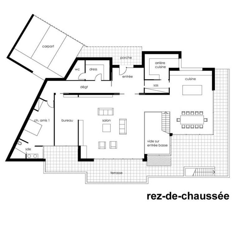Plan Architecte Maison Moderne - Le Monde De Léa