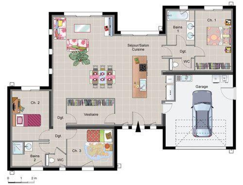 Plan maison design moderne le monde de l a for Plan d architecture villa moderne