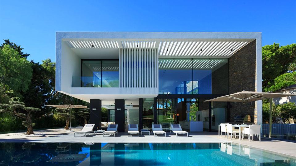 architecture villa moderne le monde de l a. Black Bedroom Furniture Sets. Home Design Ideas