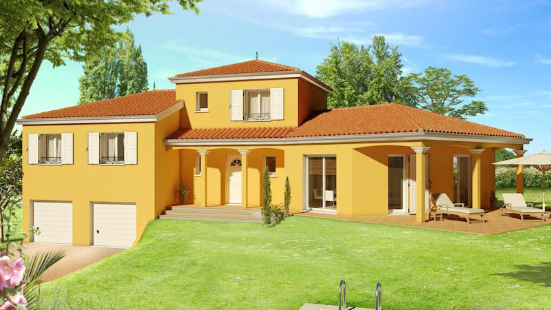 Mod le villa basse moderne le monde de l a for Modele villa basse moderne