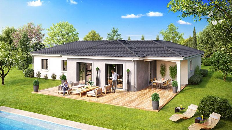 maison sans etage moderne ventana blog. Black Bedroom Furniture Sets. Home Design Ideas