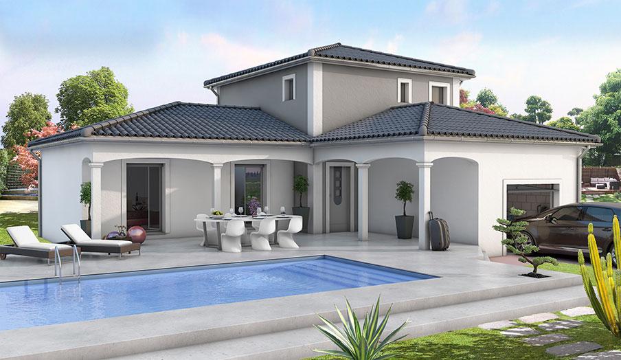 Modele de villa contemporaine le monde de l a for Plan villa basse moderne