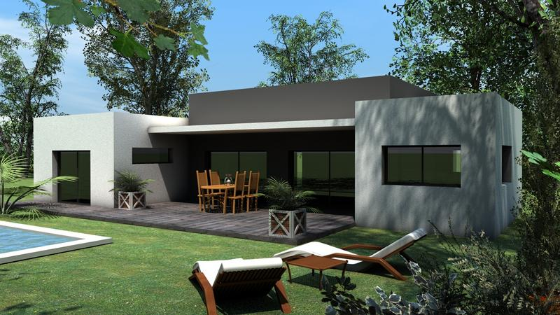 Constructeur maison bioclimatique le monde de l a for Constructeur villa contemporaine