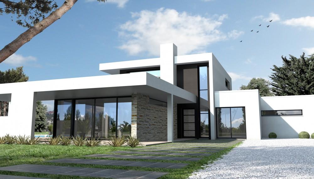 Maison individuelle contemporaine le monde de l a - Maison moderne citadine davison design ...