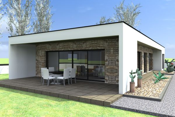 Maison plain pied d architecte contemporain le monde de l a - Style de maison moderne plain pied ...