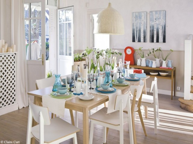 deco salle a manger scandinave le monde de l a. Black Bedroom Furniture Sets. Home Design Ideas