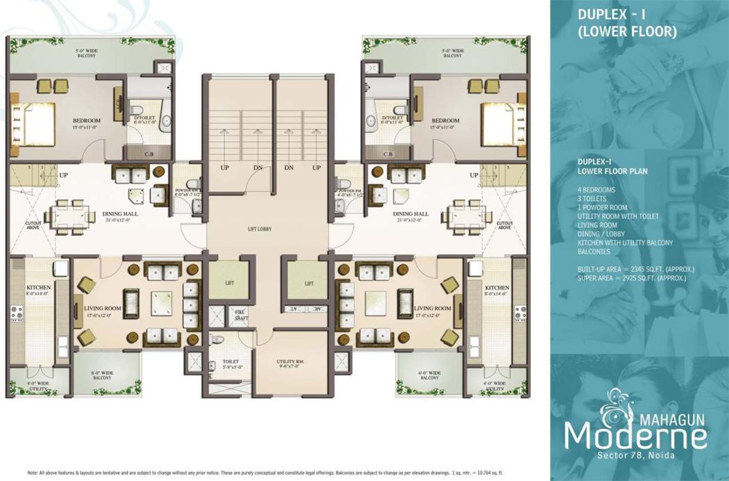 plan duplex moderne le monde de l a. Black Bedroom Furniture Sets. Home Design Ideas
