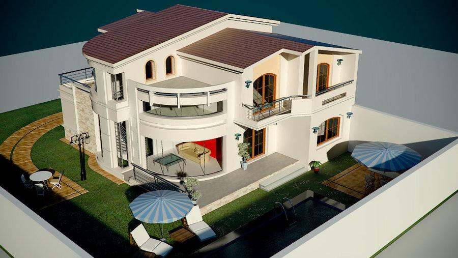 les plans des villas modernes le monde de l a. Black Bedroom Furniture Sets. Home Design Ideas