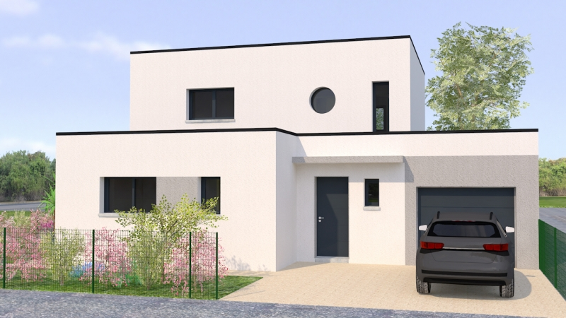 Petite maison contemporaine toit plat le monde de l a for Photo maison contemporaine toit plat
