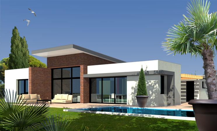 Maison moderne facade le monde de l a for Villa contemporaine moderne design