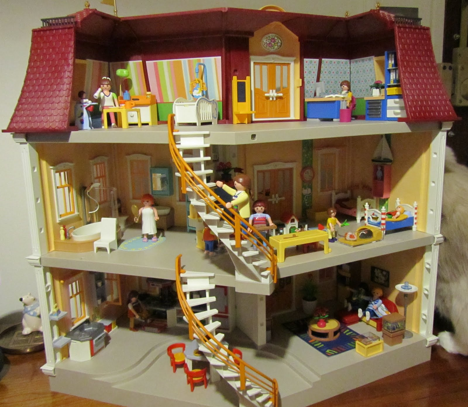 Playmobil maison moderne le monde de l a for Modele maison playmobil