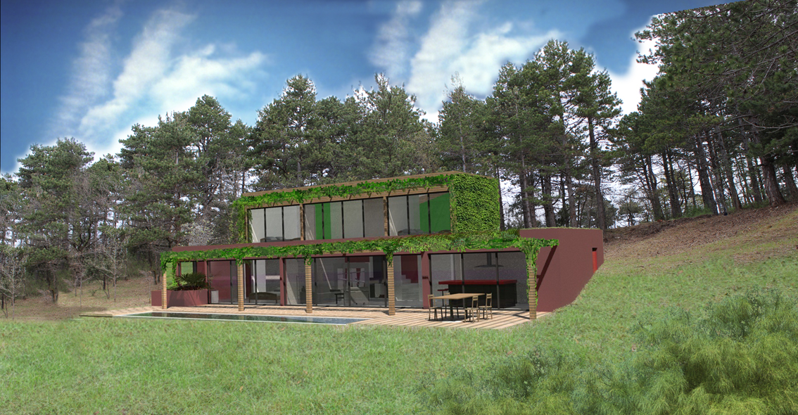 constructeur maison bioclimatique le monde de l a. Black Bedroom Furniture Sets. Home Design Ideas