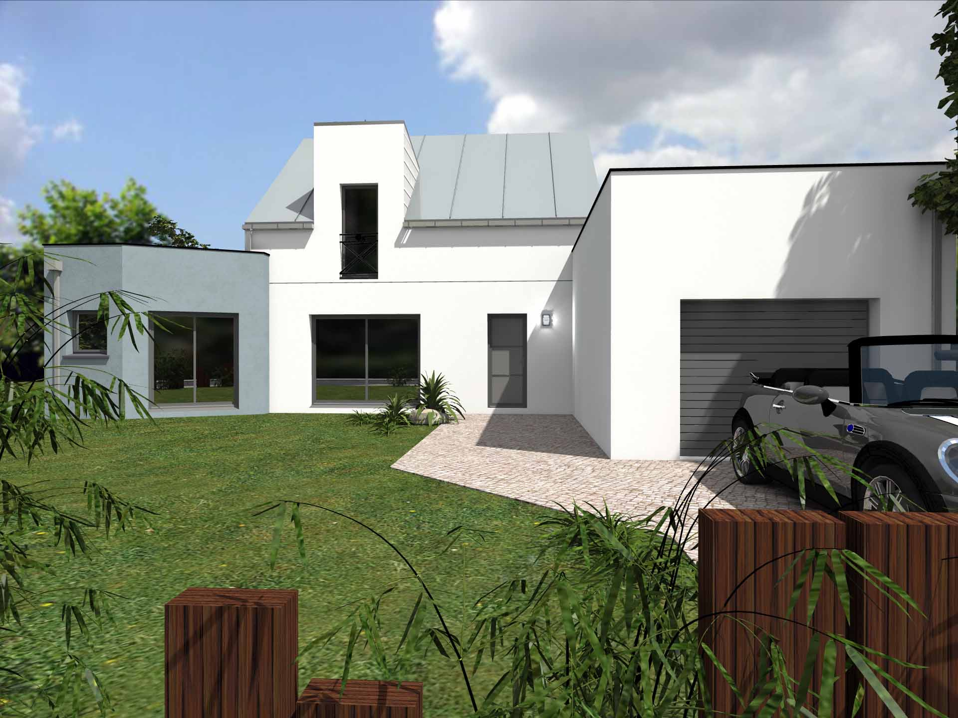 Maison contemporaine 110m2 for Maison contemporaine 140m2