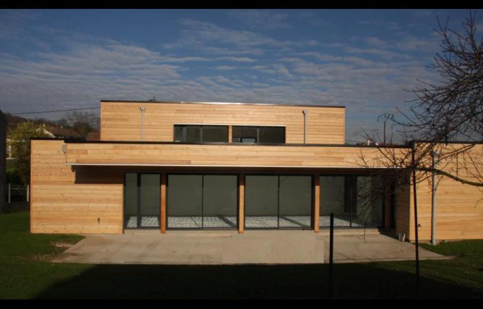 Maison contemporaine en bois Le monde de Léa # Maison Contemporaine En Bois