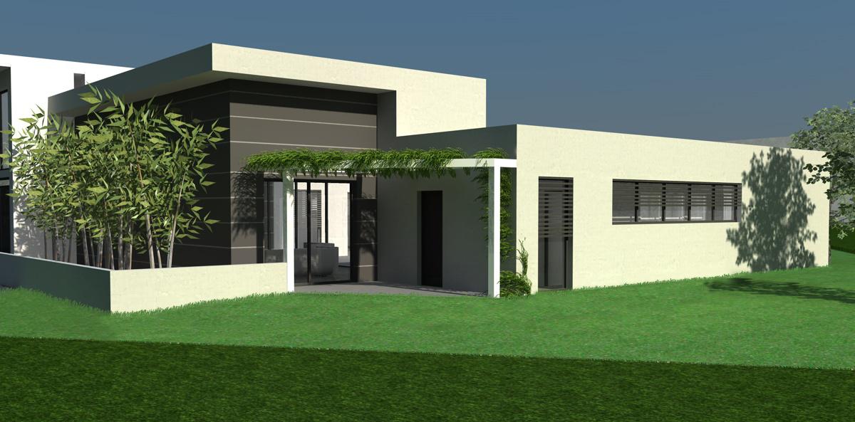 plan maison toit plat gratuit le monde de l a. Black Bedroom Furniture Sets. Home Design Ideas