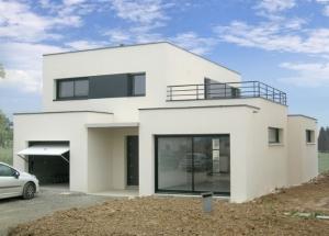 maison contemporaine simple le monde de l a. Black Bedroom Furniture Sets. Home Design Ideas