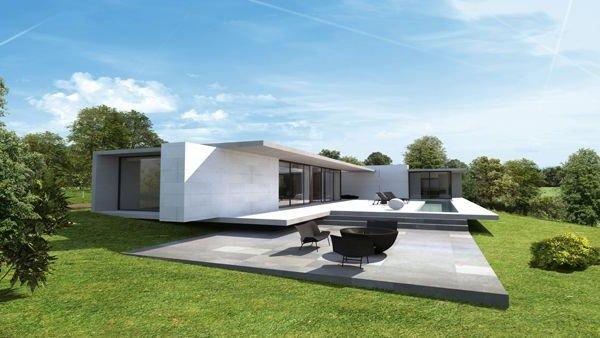 Style de maison moderne plain pied le monde de l a for Style de maison moderne