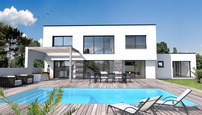 Maison moderne a construire - Le monde de Léa