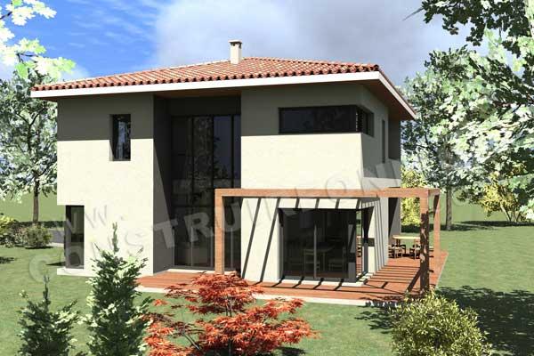 Modèle maison moderne à étage - Le monde de Léa