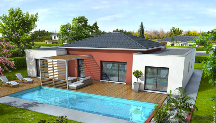 Villa basse moderne avec plan of villa basse moderne avec plan le monde de l a