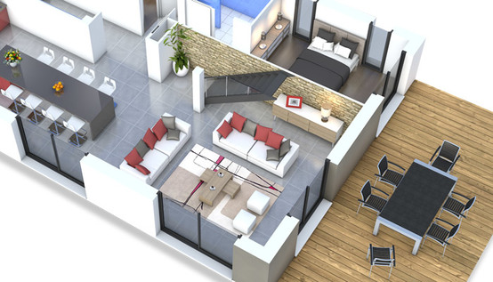 Belle maison moderne plan le monde de l a for Plan d une belle maison