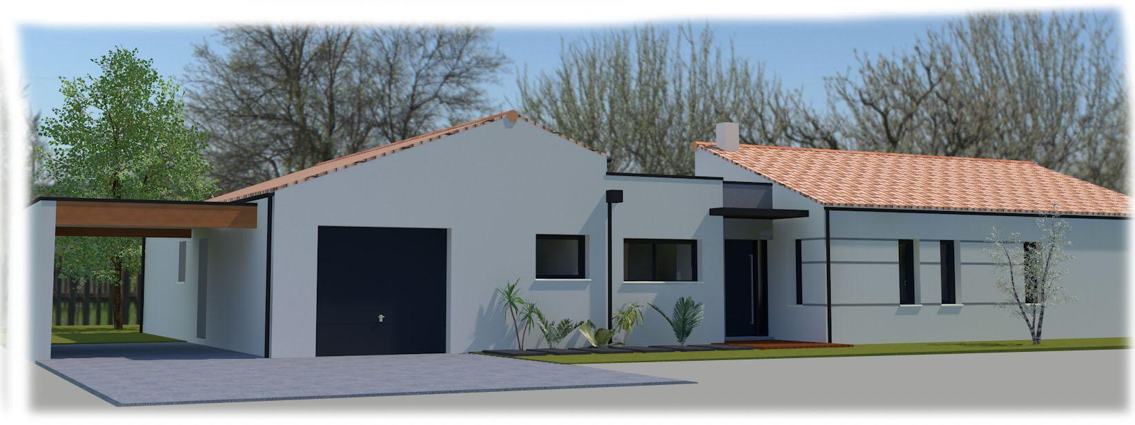 maison moderne plain pied architecte le monde de l a. Black Bedroom Furniture Sets. Home Design Ideas