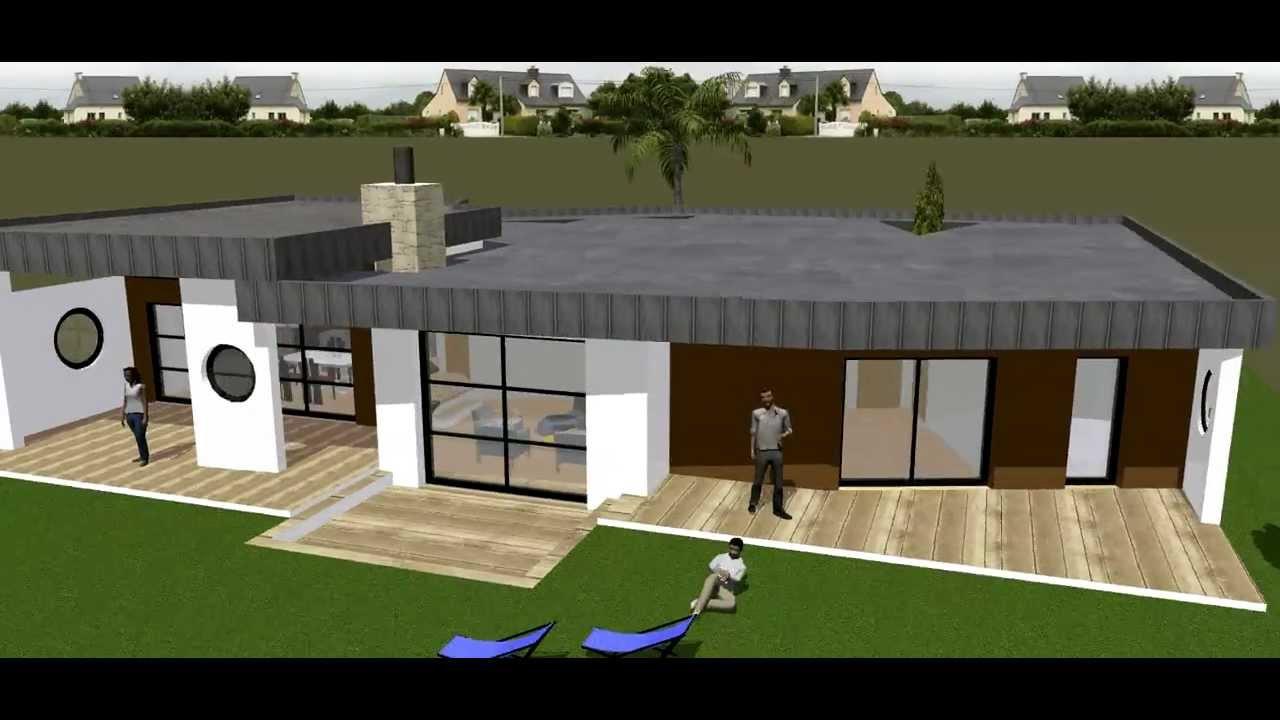 Maison duplex moderne le monde de l a for Maison mobile moderne