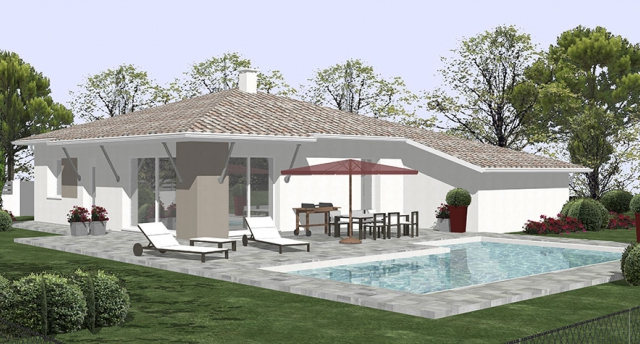 Modele villa contemporaine le monde de l a for Modele de maison a construire moderne