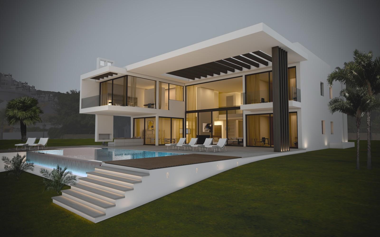 Les villa moderne le monde de l a for Les plans des villas modernes