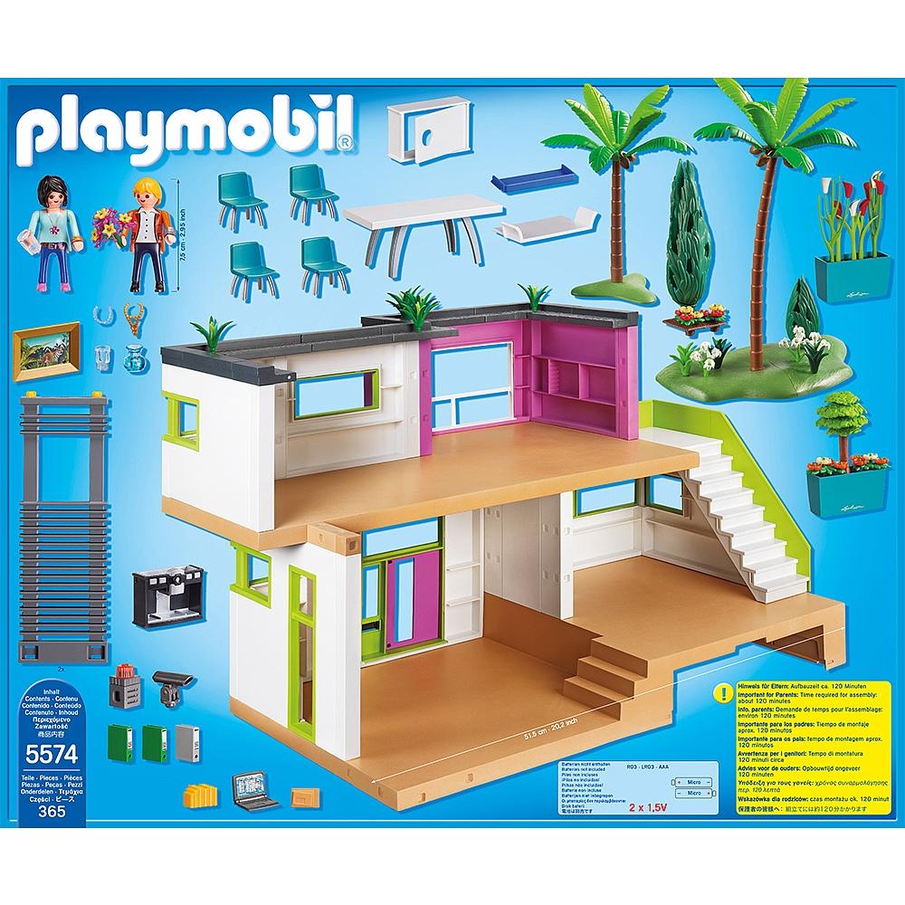 La maison moderne playmobil le monde de l a for Le monde de la maison