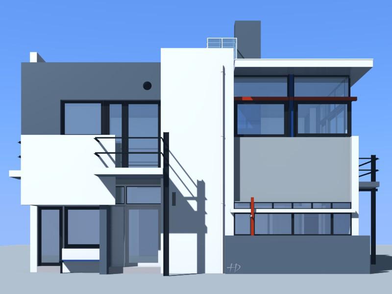 Facade moderne maison le monde de l a for Exemple facade maison contemporaine