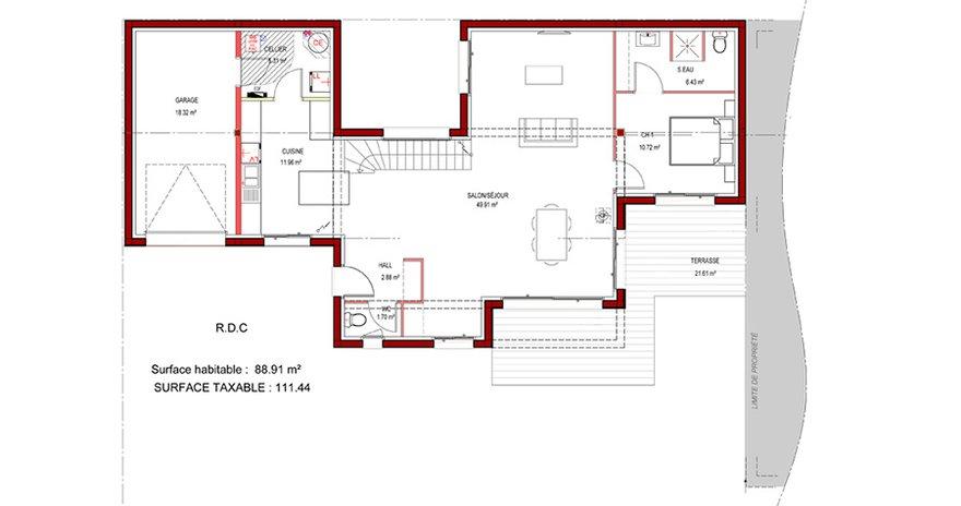 plan maison a toit plat - Plan De Maison Moderne Toit Plat Gratuit