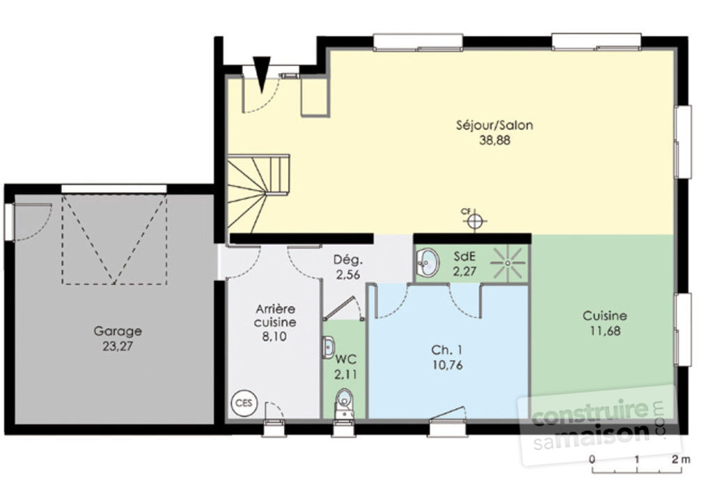 Plan maison moderne tage le monde de l a for Plan maison contemporaine etage