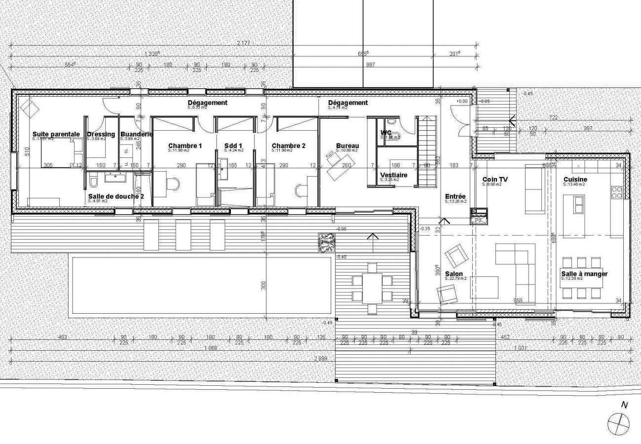 Plan de maison d architecte contemporaine le monde de l a for Plan moderne de maison