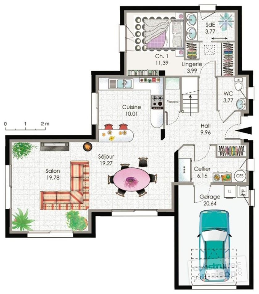 Plan Maison Moderne Contemporaine Le Monde De L A # Meuble De Maison Moderne
