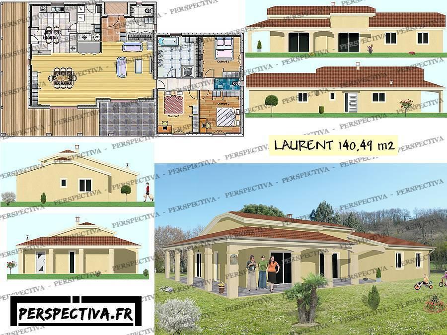 Plan maison plein pied gratuit le monde de l a for Plan maison gratuit plain pied 3 chambres