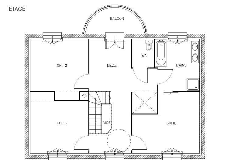 Mod le plan de maison individuelle gratuit ventana blog for Plans de maison gratuits inde