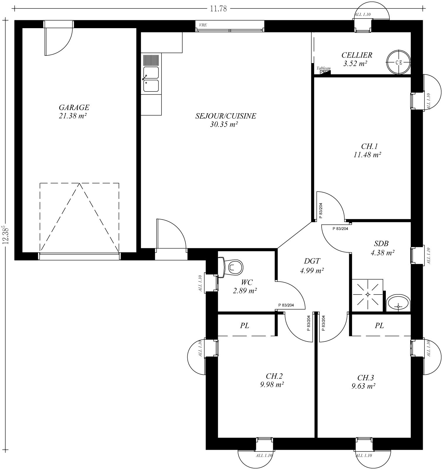 Combien coute une maison neuve prix de neuf acheter une for Calcul prix maison neuve