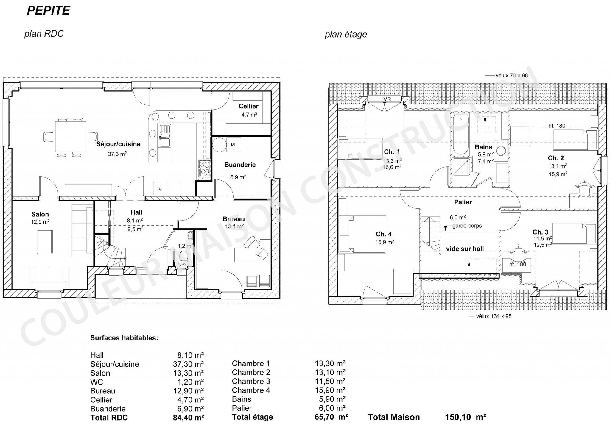 Modele plan maison le monde de l a for Exemple plan maison